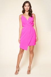 Hot Date Juleen Pink Surplice Dress