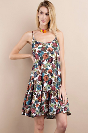 Floral Tank Dress - Melissa Jean Boutique