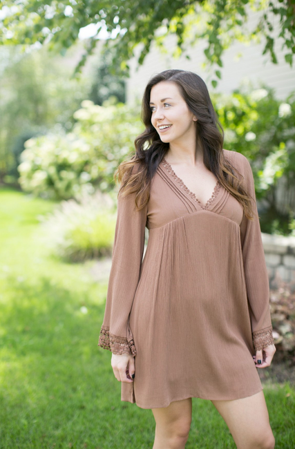 Toffee Tunic Dress - Melissa Jean Boutique