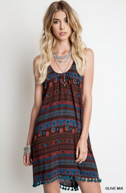 Printed Tank Dress - Melissa Jean Boutique
