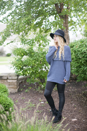 Oversized Gray/Blue Sweater