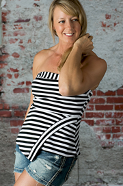 Black & White Stripe Tube Top - Melissa Jean Boutique