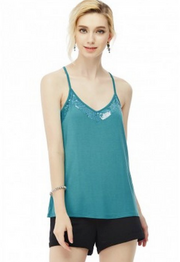 Teal Strip of Light Tank - Melissa Jean Boutique