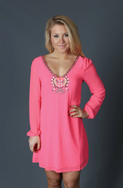 Jeweled Pink Dress