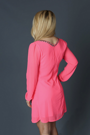 Jeweled Pink Dress - Melissa Jean Boutique