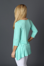Mint 3/4 Sleeve Top