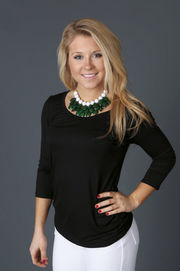 Black 3/4 Sleeve Top - Melissa Jean Boutique