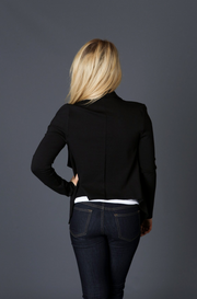 Black Crop Blazer Jacket