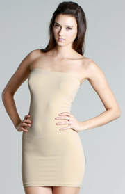 Seamless Nude Tube Dress
