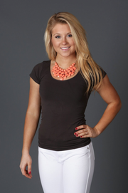 Seamless Charcoal Tee - Melissa Jean Boutique