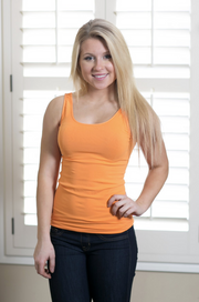 Seamless Orange Tank - Melissa Jean Boutique