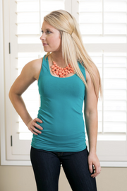 Seamless Peacock Tank - Melissa Jean Boutique