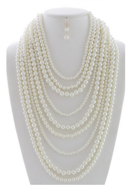 Draped in Pearls Necklace - Melissa Jean Boutique
