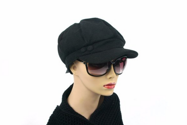 Newsboy Hat Black - Melissa Jean Boutique