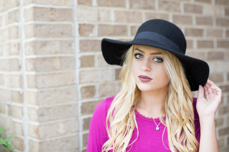 Black Wool Hat - Melissa Jean Boutique