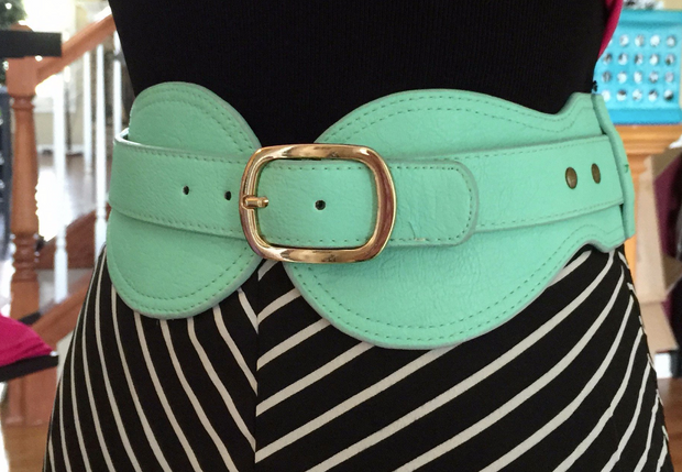 Turqoise & Gold Buckle Belt - Melissa Jean Boutique