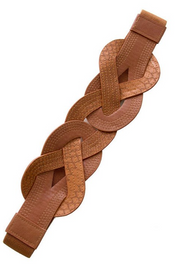 STYLISH COGNAC RIDDLE BELT