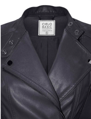 Racer Faux Leather Gray Jacket