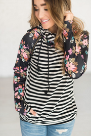 Secret Garden Double Hood Sweatshirt - Melissa Jean Boutique