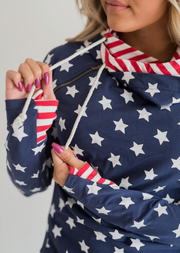 Liberty Double Hoodie - Melissa Jean Boutique