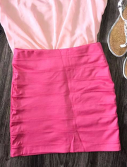 Pink Mini Skirt - Melissa Jean Boutique