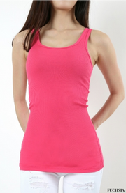 Cotton Ribbed Tank Top Several Colors - Melissa Jean Boutique