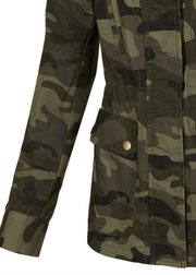 Camo Military Anorak Jacket with Pockets - Melissa Jean Boutique