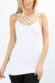Caged Seamless Tanks *Available in Black or White - Melissa Jean Boutique