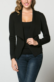 Black Crop Blazer Jacket - Melissa Jean Boutique