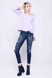 Moto Ankle Skinny Jeans - Melissa Jean Boutique
