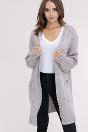 Gray Chunky Knit Cardigan