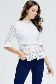 Marie Hollow Tunic Top - Melissa Jean Boutique