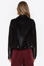 Have Mercy Black Moto Faux Leather Jacket - Melissa Jean Boutique
