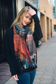 Rust Multi Color Scarf - Melissa Jean Boutique