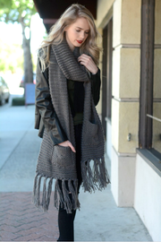 Chunky Oversized Pocket Scarf *Multiple Colors - Melissa Jean Boutique