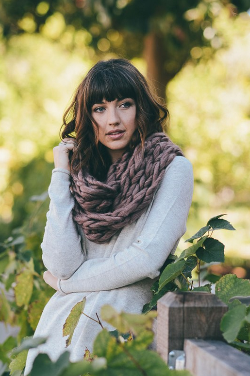 Copper Ultra Soft Chunky Infinity Scarf - Melissa Jean Boutique
