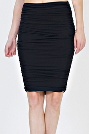 Black Shirred Pencil Skirt - Melissa Jean Boutique