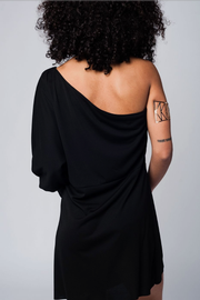 Take Me Out One Shoulder Black Dress or Tunic