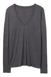 Keep it Casual Jersey V-Neck T-Shirt Gray - Melissa Jean Boutique