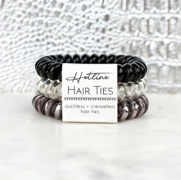 Hotline Hair Ties Black Diamond Metallic Set - Melissa Jean Boutique
