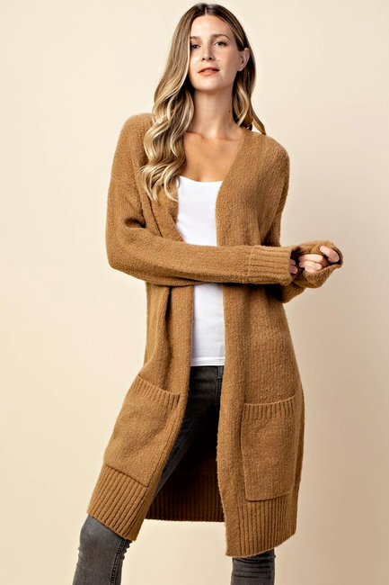 Love You A Latte Cardigan - Melissa Jean Boutique