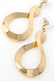 Infinity Sign Dangle Earrings *In Silver or Gold - Melissa Jean Boutique