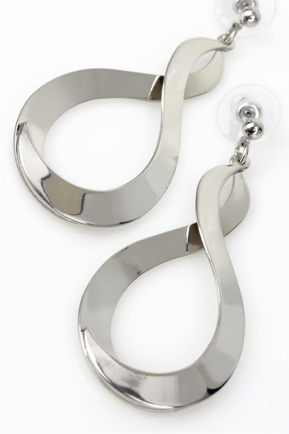 Infinity Sign Dangle Earrings *In Silver or Gold