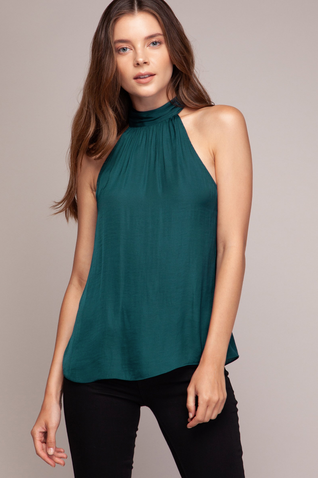 Atlantic Deep Halter Top - Melissa Jean Boutique