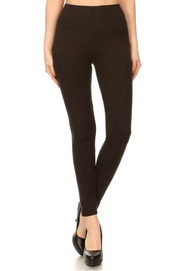 Basic Black High Waist Knit Leggings - Melissa Jean Boutique