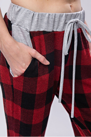 Buffalo Plaid Joggers - Melissa Jean Boutique