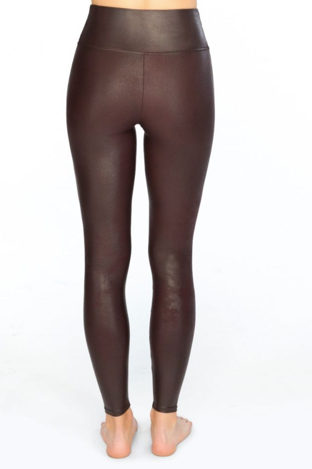 3bf289e6f1c06 Spanx Wine Faux Leather Leggings - Melissa Jean Boutique