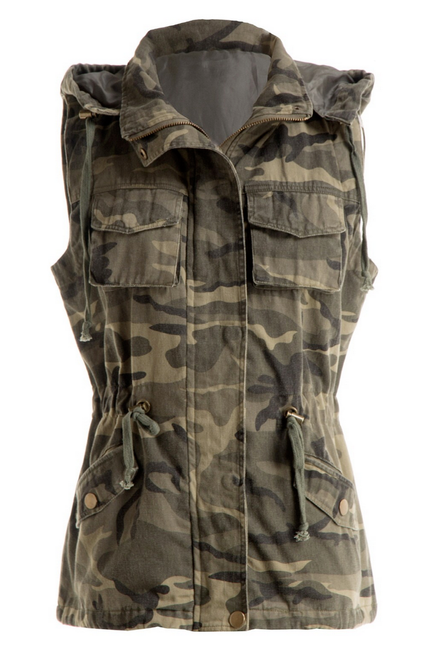 All You Can Be Camo Cargo Vest - Melissa Jean Boutique