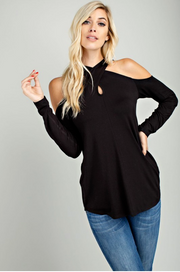 I Cross My Heart Black Long Sleeve Top - Melissa Jean Boutique
