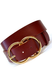 Double Ring Jean Belt in Wine - Melissa Jean Boutique